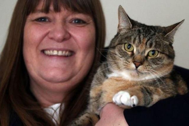 В Англии кошка спасла свою хозяйку от рака