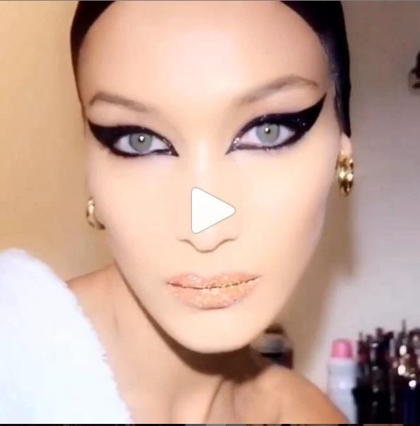 Белла Хадид показала свой новогодний макияж