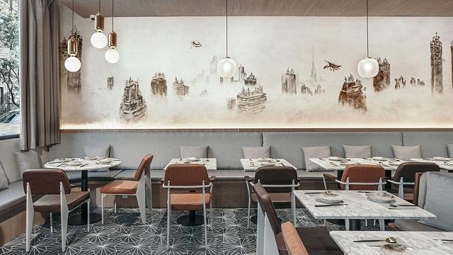 Интерьер китайского ресторана в Нью-Йорке создали на основе старинных китайских карт