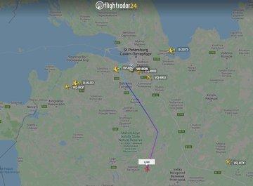 Самолет Пригожина вылетел из аэропорта Пулково в сторону Украины