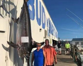 Во Флориде поймали рыбу весом 340 килограммов