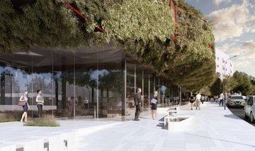 В Мадриде откроют библиотеку в виде зеленого космического корабля