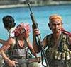 При задержании пиратов вертолет РФ открывал огонь из пулемета